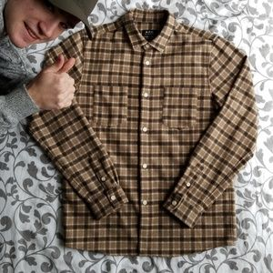 A.P.C. Wool Check Overshirt